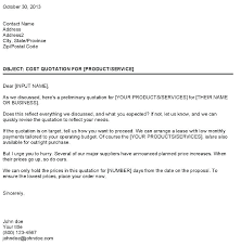 Price Proposal Template Quote Letter Offer Format