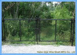 Woven Vinyl Coated Chain Link Fence Gate With Galvanized Steel Wire