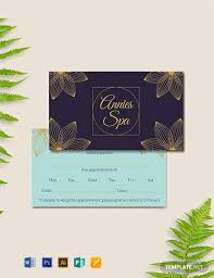 Appointment Card Template 9 Free Appointment Card Templates Word Psd Apple Mac