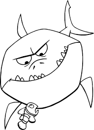 Disney Finding Nemo Bruce Shark Coloring Pages Wecoloringpagecom