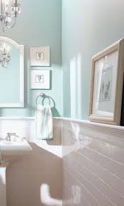 Subway Tile Half Wall, Blue Inspiration For The Bathroom    The Home Depot