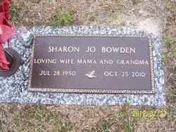 Sharon Jo Riggs Bowden (1950-2010) - Find A Grave Memorial