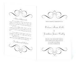 Free Printable Wedding Ceremony Programs Wedding Day Program Template Templates Wedding Ceremony Programs Co