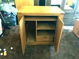 hidden desk furniture. Hide Away Computer Desk Hidden Furniture Cabinet Hideaway Solid Oak C