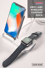 Charging stand for dock for apple watch series 5 4 3 2 1 and iphone 2 in 1. Ubio Labs Dual Wireless Charger Dock For Iphone And Apple Watch Apple Watch Docking Apple Watch Iphone