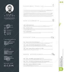 Minimalist Resume Template Resume For Study
