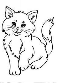 Immagini Di Gatti Da Colorare Per Bambini Gatto Da Colorare