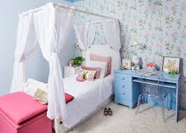 los angeles maison canopy bed kids shabby-chic style with girls room ...