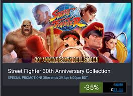 Street Fighter 5 Steam Charts Steam Sale Street Fighter 30th Anniversary Collection 35