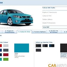 Ford Falcon Colour Chart Build And Price Your Fg Falcon Online Caradvice