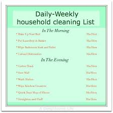 Daily Weekly Cleaning List For Couples Great Way To Help