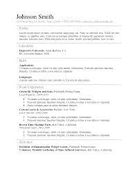 Resume Free Templates Microsoft Word Simple Ms Word Resume Template ...