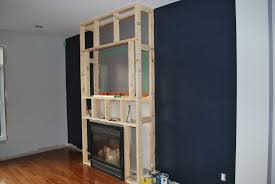 wood frame for new fireplace surround