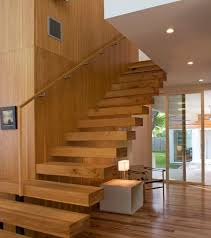 View in gallery Use the space avialable beneath the floating staircase in  more ways than one