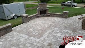 Brick Paver Patio Fireplace Design Troy MI 48043 Outdoor
