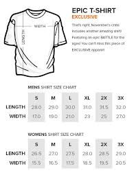 Loot Crate Shirt Size Chart