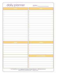 Blank Schedule Printable Daily Planner Templates Free Template Lab Blank