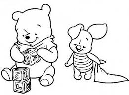 Baby Winnie The Pooh Characters Coloring Pages Kids New