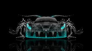laferrari back water car