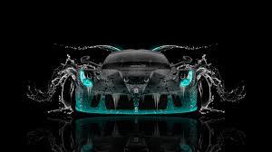 laferrari back water car
