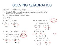 40 solving quadratics