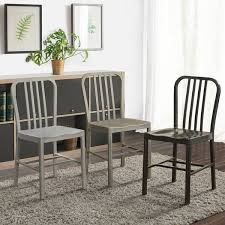 kitchen dining room chairs furniture of america wiz modern finished steel side chairs set of 2 w15