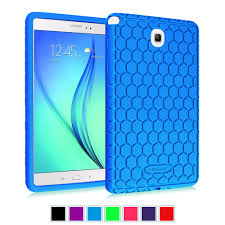 For Samsung Galaxy Tab A 8.0 SM-T350 2015 Model Case - [Kids Friendly] Shock Proof Silicone Cover Protective Skin Blue Walmart.com