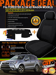 fits subaru forester sj black suede velour seat covers f r dash mat bundle jan 2016 2017 s4