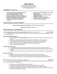 Sample Executive Assistant Resume Objective Personal Assistant