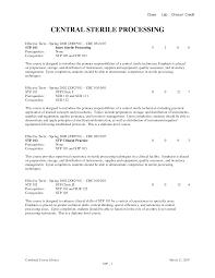 Sterile Processing Resume Sample Popular Sterile Processing