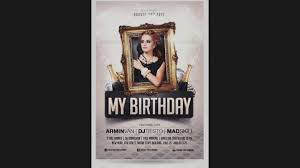 Birthday Flyers Template New Of Birthday Flyer Template Free Party Invitation PhotoShop 3