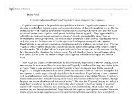 piaget essay compare and contrast piaget s and vygotsky s views of  compare and contrast piaget s and vygotsky s views of cognitive document image preview