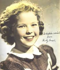 nothing special warhol s childhood scrapbook mooc magazine  portrait photo of shirley temple autographed to andy warhol