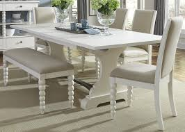 Trestle table with bench Sauder Trestle Table And Upholstered Side Chairs And Dining Bench Set Wolf Furniture Trestle Table And Upholstered Side Chairs And Dining Bench Set By