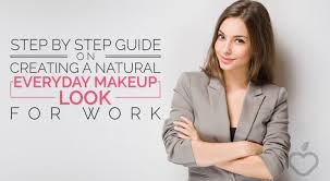 step by step guide on creating a natural everyday makeup look for work