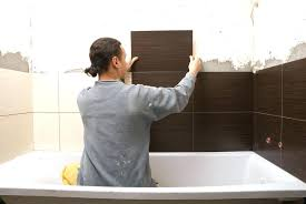installing shower surround how to install a tile shower surround man tiling shower surround replace shower