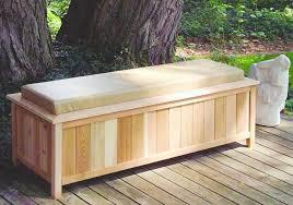 outdoor deck storage bench plan