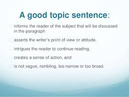 t w autobio topic sentence jj 8 a good topic