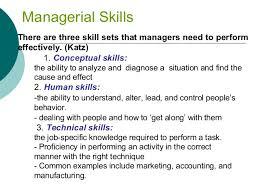 Example Of Management Skills Management Levels