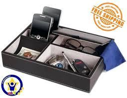 mens dresser organizer men top valet tray 5 compartment catchall leatherette nib leather organize s deals organizers dresse