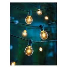 outdoor globe string lighting. clear globe string lights set of 25 g40 bulbs indoor / outdoor lighting e