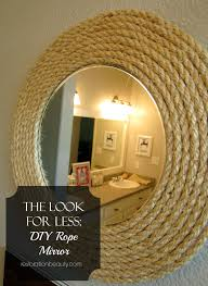 Diy Mirror Restoration Beauty The Look For Less Diy Rope Mirror