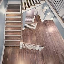 8 character black walnut plank flooring atlanta craftsman staircase atlanta