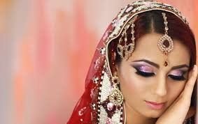 pink and purple glitter smokey eye bridal makeup tutorial indian asian stani contemporary look by