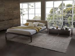 italian bedrooms furniture. Italian Contemporary Bed, Leather Headboard, Wood Bed Frame, Made In Italy For Sale At 1stdibs Bedrooms Furniture O