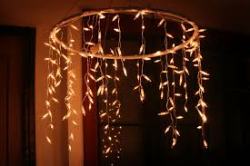 kitchen decorative make a chandelier 14 an outdoor with icicle lights step 10 make a