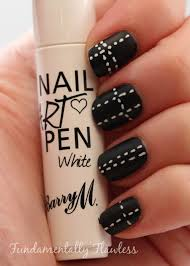 Fundamentally Flawless: Barry M Matte Black with White Stitches ...