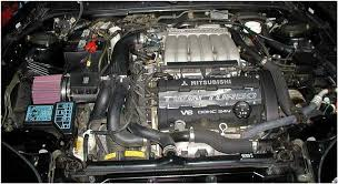 mitsubishi 3000gt vr4 engine. stock 320 hp twin turbo intercooled dohc 24v 3 litre v6 the engine is except for a ku0026n air filter and twin turbo spark plug cover which mitsubishi 3000gt vr4