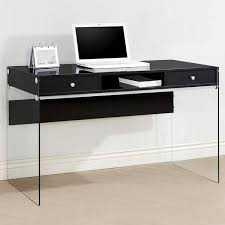 contemporary desks for office. Contemporary Modern Style Glass Home Office Glossy Black Computer For Writing Desks Plan 10