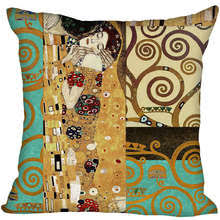 new arrival gustav klimt pillowcase wedding decorative pillow case customize gift for pillow er 35x35cm